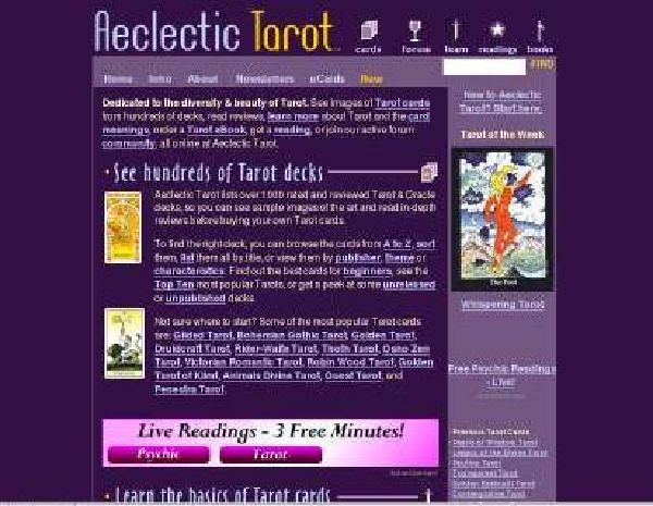 Links de sites de Tarot